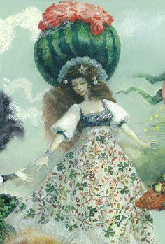 Fairy trip Go after them (detail)  My second large #aquarelle work.  #InnaIndichenko #art #ArtUkraine #illustration #drawing, #fairytail