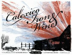 Calexico &  Iron & Wine Concert Poster By Andy Vastagh