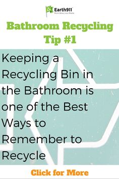 This is a great bathroom recycling tip. I never think about recycling in the bathroom. This recycling info is super helpful.