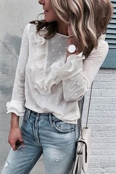 a994ee1a205 30 Best White lace blouse images