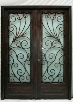 All of our doors are custom built to your exact dimensions. Please provide desired width and height for a free quote. Entry Doors, Front Doors, Wrought Iron Doors, Living Room Decor, Iron Gates, Drawing Room Decoration, Entry Gates, Entry Gates, Den Decor