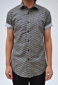 New Wave Short Sleeve Button-Up Shirt by VintageDivinitiess