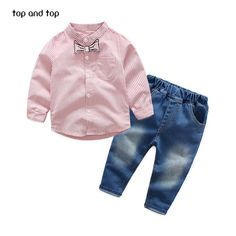 Baby Boy Clothes Stripe Letter Print Hoodies+Long Camouflage Pants 2PCS Outfits Set