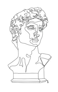 Art Sketches, Art Drawings, Drawing Faces, Art Attak, Medusa Drawing, Trippy Designs, Continuous Line Drawing, Contour Line Drawing, Contour Drawings