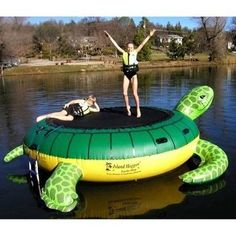 Island Hopper Turtle Hop Inflatable Water Trampoline is an inflatable water trampoline that will give you hours of water trampoline fun. This Island Hopper water trampoline is a joy and delight for every dock. Water Trampoline, Trampoline Sale, Trampoline Reviews, Lake Toys, Cool Pool Floats, My Pool, Pool Fun, Pool Toys, Kids Swimming