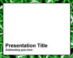 Green Rods PowerPoint template frame is a free PPT template with white background and frame border that you can use as frame for your PowerPoint presentations