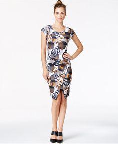 Bar III Printed Sheath Dress - Dresses - Women - Macy's