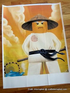 Craft, Interrupted: Ninjago Party Game - Pin the Beard on Sensei Wu!