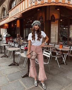 Fringe cropped flare trend SS18