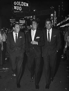 Frank, Dean and Peter Lawford