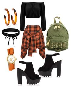 """""""🔶"""" by ajoneslove on Polyvore featuring Vivienne Westwood Anglomania, Moschino, Tory Burch, Dinosaur Designs and Boohoo"""