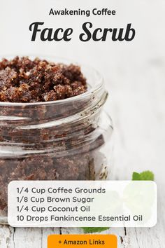 Try this wonderful recipe for an awakening coffee face scrub that can magically exfoliate your face and leave it hydrated and healthy. The recipe contains : Coffee grounds Brown sugar Coconut oil Frankincense essential oil try it now and enjoy you clean pores 😇 Coffee Face Scrub, Coffee Face Mask, Tea Tree Face Wash, Best Exfoliators, Spf Lip Balm, Dry Skin On Face, Facial Wash, Awakening