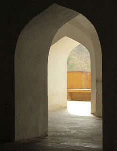 Interior. Raw. old arches. Bc.