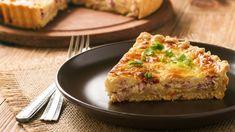 Quiche jambon poireau Quiche Lorraine, Quiche Camembert, Quiches, Bacon And Cheese Quiche, Tapas, Slow Cooker Bacon, Best Breakfast Recipes, Quiche Recipes, Sausage Breakfast