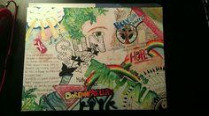 A work i made for a good friend of mine. Graffiti, art, love, peace and reggae.