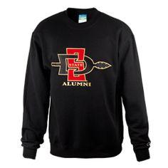 70d443ba SDSU Alumni Crew Crew neck sweatshirt featuring an embroidered SD Arrow  logo with Alumni across the