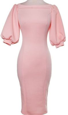 """No puff for sleeves; instead Jyst free flowing sleeves. """"Salina"""" Off the shoulder puffy sleeves dress. Mode Outfits, Dress Outfits, Dress Up, Bodycon Dress, Fashion Outfits, Pink Dress, Fashion 2018, Elegant Dresses, Pretty Dresses"""
