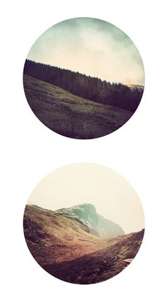 Marco Suarez Give me beautiful landscape photography, cropped in a circle, any day. A nice series by Marco Suarez. Prints are available on his shop