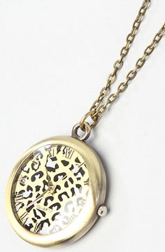 *Accessories Boutique The Cheetah Watch Necklace, Save 20% off with Rep Code: PAMM6