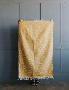Mustard Handmade Indian Blanket