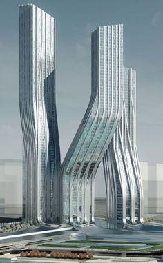 Dancing Towers, Dubai, UAE by Zaha Hadid Architects: