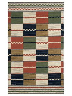 VITA RUTMATTAN Designed by Märta Måås-Fjetterström in 1933 #MMF #MärtaMååsFjetterström #MartaMaas #Handwoven #Handmade #Flatweave #Rug #Rugs #SwedishCarpets #SwedishDesign