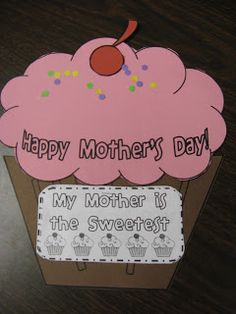 This super cute activity is a coupon book for mom on Mother& Day! Simply copy the cupcake pieces on colored construction paper and students can cut and assemble the pieces. The project took third graders about minutes from start to finish. Mother Poems, Mothers Day Poems, Mothers Day Crafts For Kids, Fathers Day Crafts, Mothers Day Cards, Happy Mothers Day, Mother Day Gifts, Mother's Day Activities, Holiday Activities