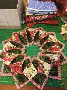 Fold and stitch wreath