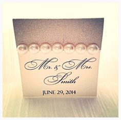 Champagne seating card light gold wedding place card by VPElegance, $1.49