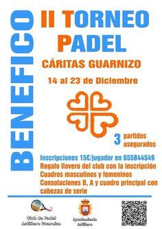 Cartel del torneo realizado por el equipo de astillero de Padel a beneficio de Cáritas. En el que las finales se jugaron el día 23-12-2012