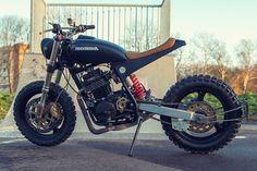 Honda XR600R Street Tracker by Ozz Customs #motorcycles #streettracker #motos | caferacerpasion.com