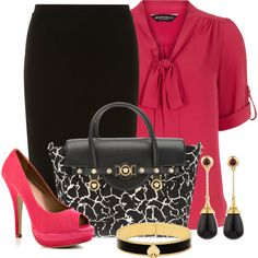 A fashion look from January 2014 featuring Dorothy Perkins blouses, Dorothy Perkins skirts and JustFabulous pumps. Browse and shop related looks.