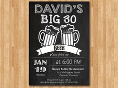 Beer party invitations.