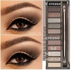 Urban Decay 2 Palette Look