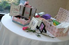 Life and Grace: Planning an Infant Funeral/Memorial: The Special Touches Memory Table, Funeral Memorial, Funeral Arrangements, Table Set Up, Baby Memories, Infant Loss, Source Of Inspiration, Table Settings, Gift Wrapping