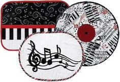 MUSICAL EXPRESSIONS PLACE MATS PATTERN