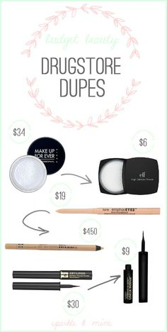 Sparkle Mine: Budget Beauty: Even More Drugstore Dupes! All Things Beauty, Beauty Make Up, Diy Beauty, Beauty Hacks, Beauty Advice, Beauty Ideas, Fun Things, Make Up Dupes, Cheap Makeup