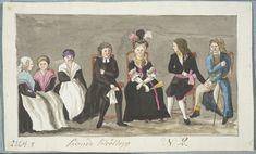 Talonpoikaishäät Pohjanmaalla. Ruotsissa ja Suomessa käytettiin hääpukuna myös Kustaa kolmannen alkujaan säätyläisille suunnittelemaa kansallista ruotsalaista pukua. Pukuun kuului musta villa- tai silkkipuku, punainen silkkivyö, valkoiset kalvosimetkoristeltu kaulusa ja rintalappu johon saattoi kiinnittää korut. Säätyläiset lahjoittivat epämuodikkaiksi tulleita pukujaan alempisäätyisille, palvelusväelle ja papinrouville josta ne levisivät tavallisen kansan pariin. C.P.Elfström. 1808. 18th Century, Culture, Clothes For Women, Painting, Art, Outfits For Women, Paint, Draw