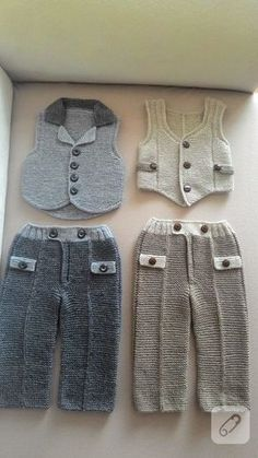 Örgü erkek bebek takımları