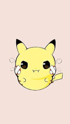 Pikachu is mad. Cute Pokemon Wallpaper, Cute Cartoon Wallpapers, Kawaii Wallpaper, Cute Animal Drawings, Kawaii Drawings, Cute Drawings, Pikachu Raichu, Pikachu Art, Pikachu Drawing