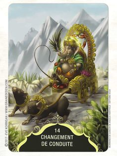 Whispers of Lord Ganesha Oracle cards de Angela Hartfield - Graine d'Eden… Jai Ganesh, Ganesha Art, Indian Gods, Indian Art, Baby Ganesha, Lord Ganesha Paintings, Lord Shiva Family, Lord Murugan, Durga Goddess