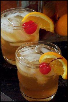 Amaretto Sour Baci...1 1/2 ounces carbonated lemon-lime beverage (I use 7-Up)   3 ounces Amaretto   2 ounces sour mix (or 1 1/2 ounces lemon juice with granulated sugar)   2 orange slices, garnish   1 maraschino cherry