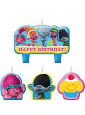 Trolls Birthday Candles 4ct Party City