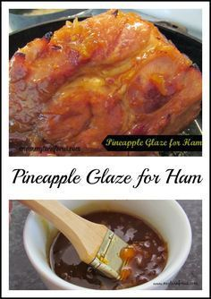 This Pineapple Glaze recipe is an easy homemade glaze for ham chicken or pork. In just minutes you can bring all that extra flavor to your holiday ham. - Ham - Ideas of Ham Thanksgiving Recipes, Holiday Recipes, Dinner Recipes, Holiday Ham, Thanksgiving Feast, Holiday Meals, Holiday Appetizers, Christmas Recipes, Christmas Ham