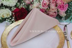 Blush Napkins. High quality blush cloth napkins for weddings and events. | 2018 Blush Weddings