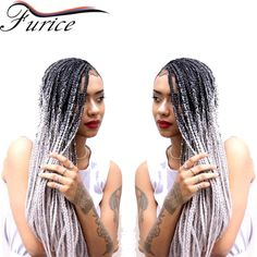 Aliexpress.com : Buy 18inch Synthetic 3X Box Braids Ombre Braiding Hair Extension Havana Twist Box Brais Burgundy Grey Freeress Hair Jumbo Braids from Reliable ombre braids suppliers on furice hair Store