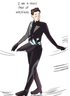 Yuri!! On Ice Dan and Phil aww >> I'M LAUGHING BUT THIS IS ADORABLE AF