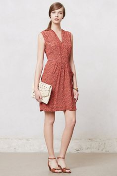 With a belt this could be a contender.  First Blush Dress #anthropologie