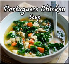Portuguese Chicken Soup Recipe from The Travelling Kitchen