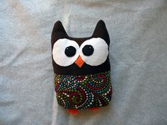Corduroy Owl with a Pocket  FREE SHIPPING US by Tuscanycreative, $20.00